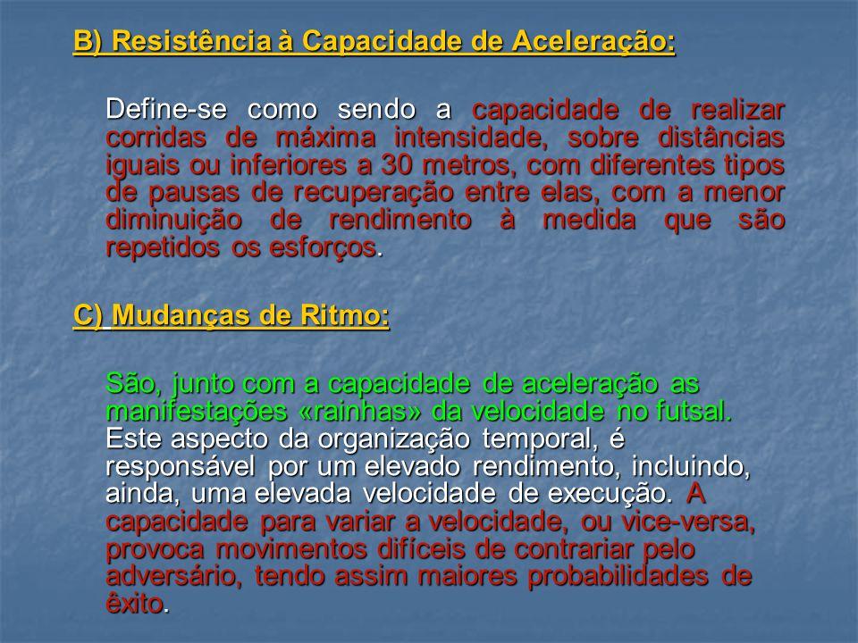 B) Resistência à Capacidade de Aceleração: