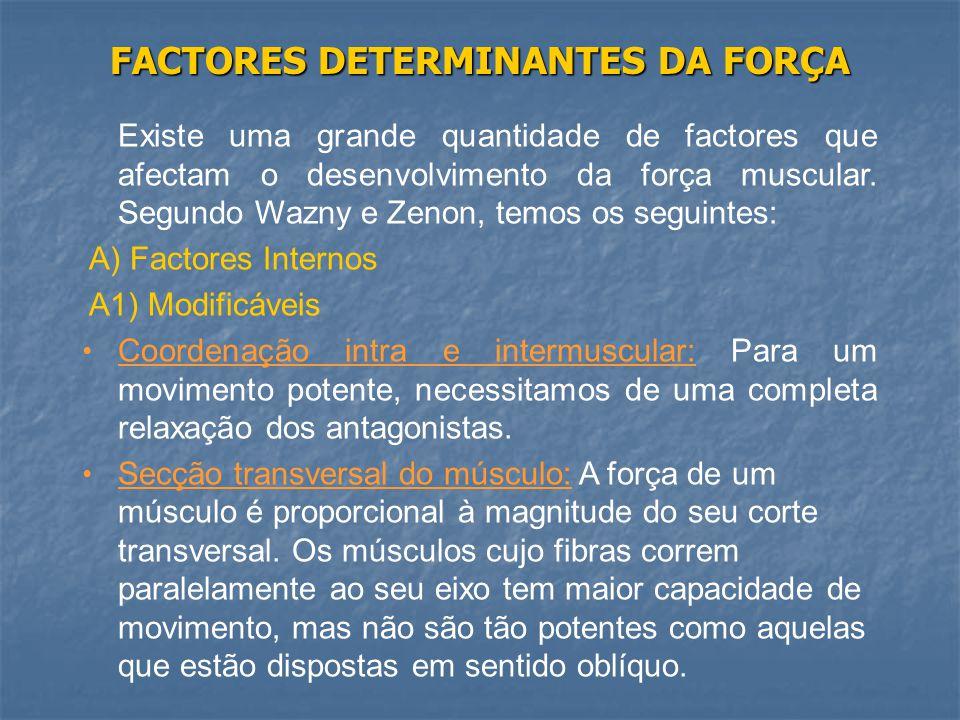 FACTORES DETERMINANTES DA FORÇA