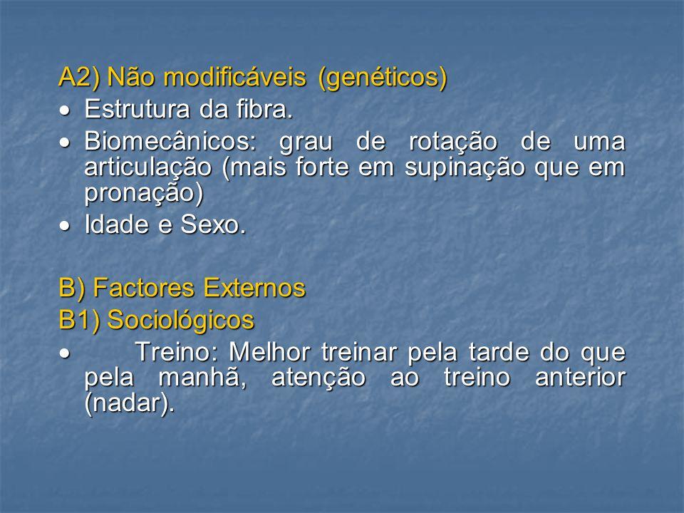 A2) Não modificáveis (genéticos)