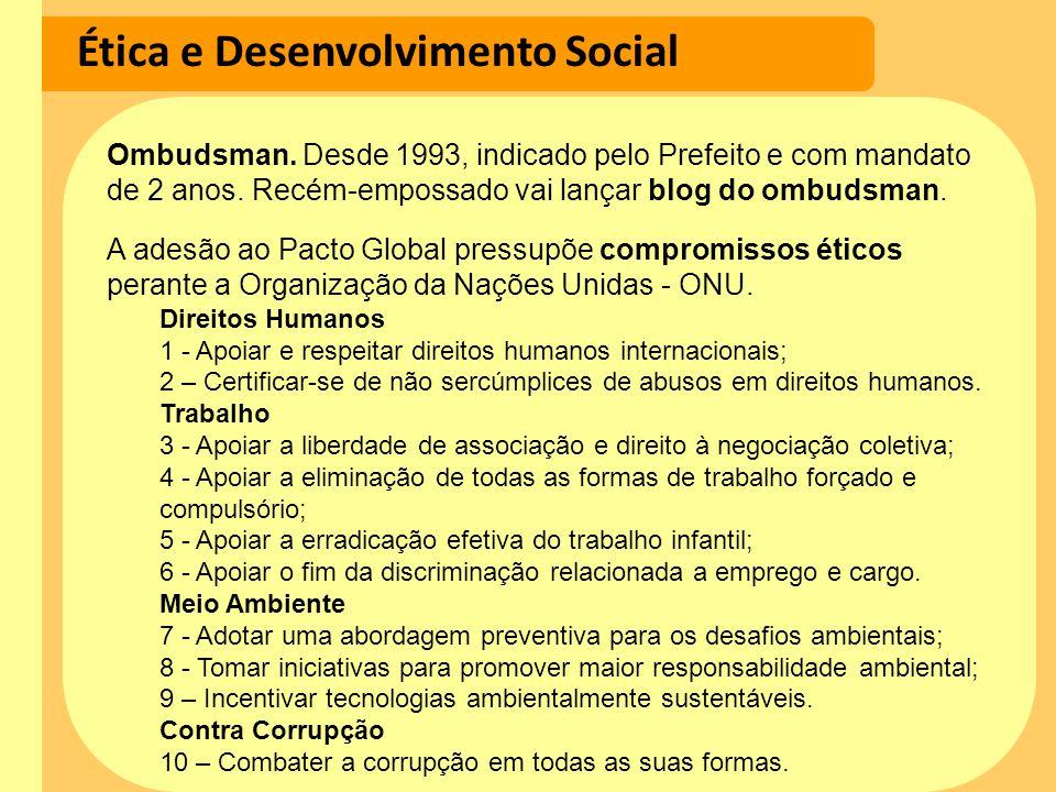 Ética e Desenvolvimento Social