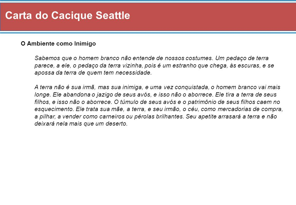 Carta do Cacique Seattle