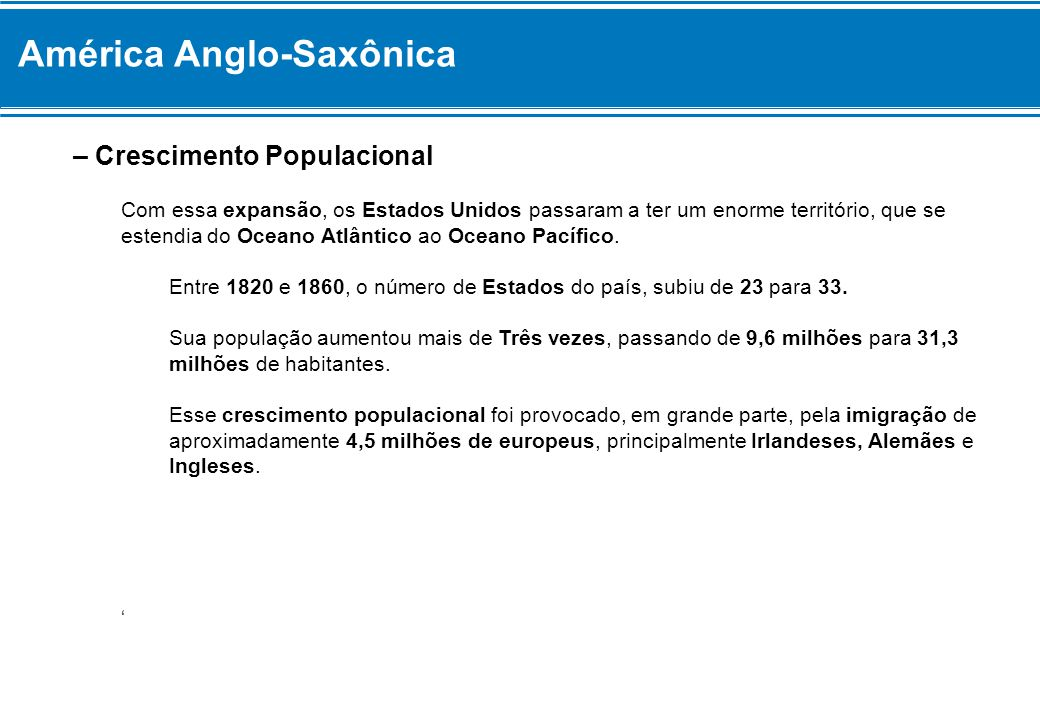 América Anglo-Saxônica