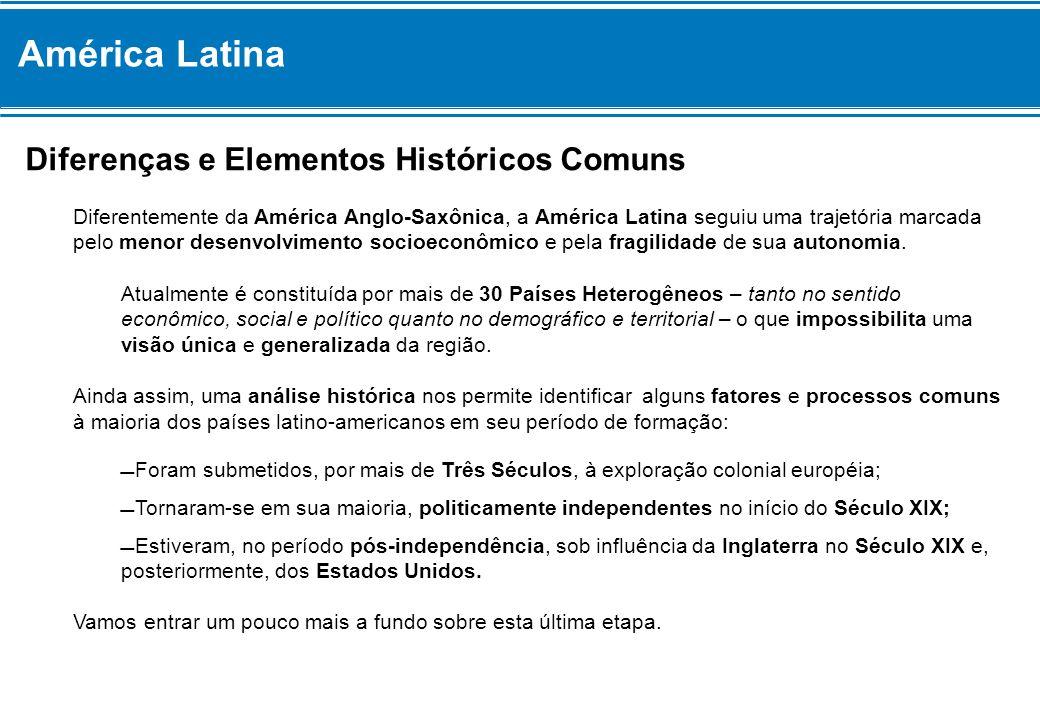América Latina Diferenças e Elementos Históricos Comuns