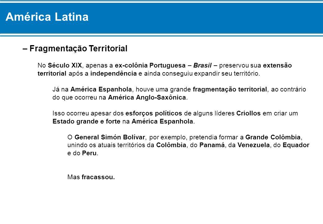 América Latina – Fragmentação Territorial