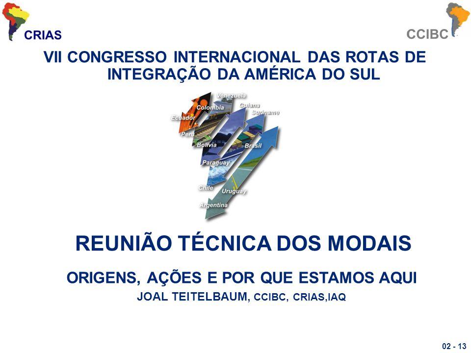 REUNIÃO TÉCNICA DOS MODAIS