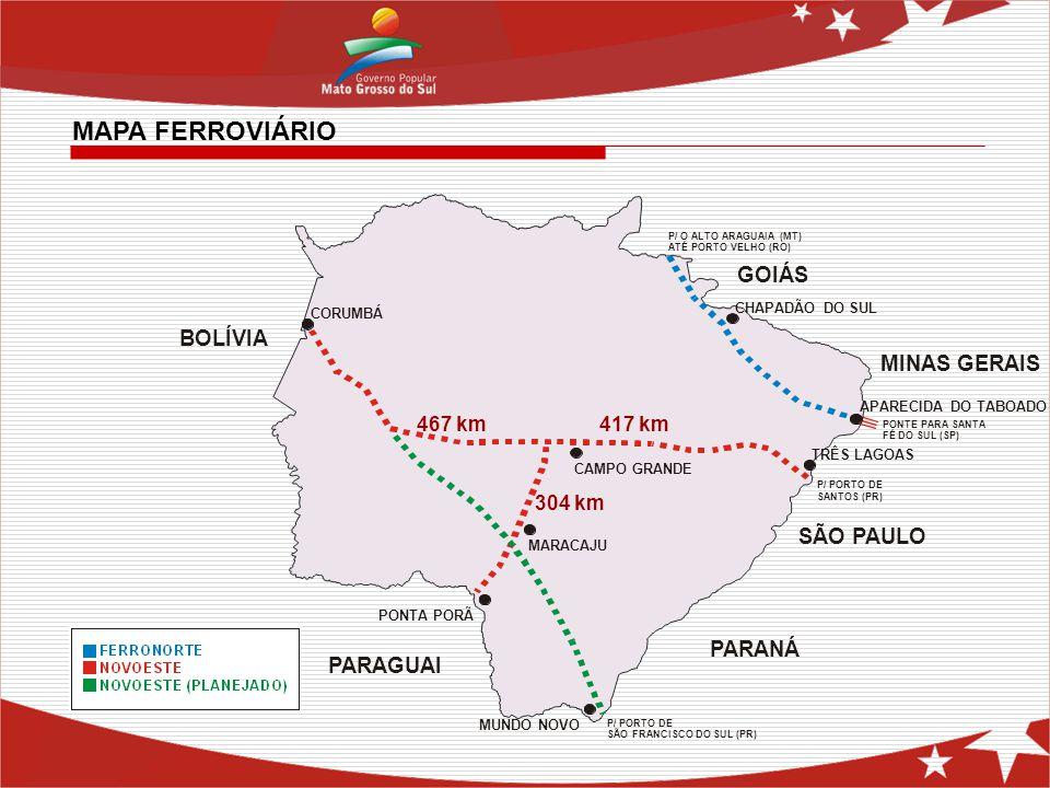 MAPA FERROVIÁRIO GOIÁS BOLÍVIA MINAS GERAIS SÃO PAULO PARANÁ PARAGUAI