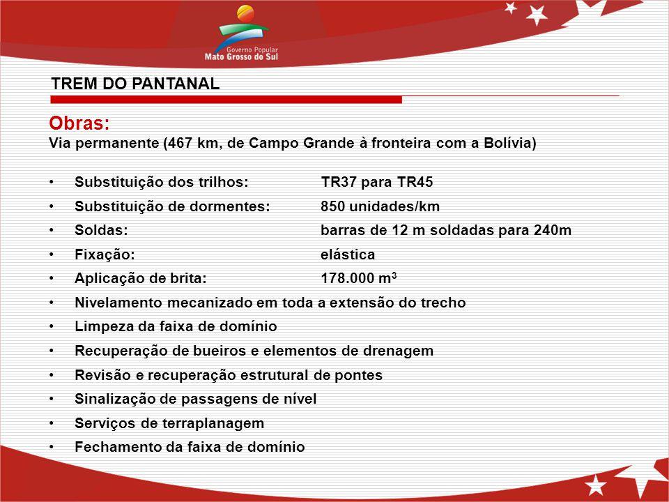 Obras: TREM DO PANTANAL