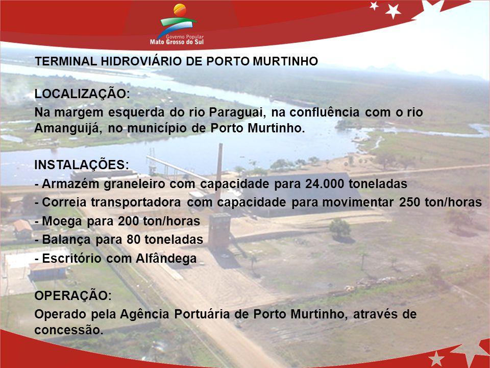 - Armazém graneleiro com capacidade para 24.000 toneladas
