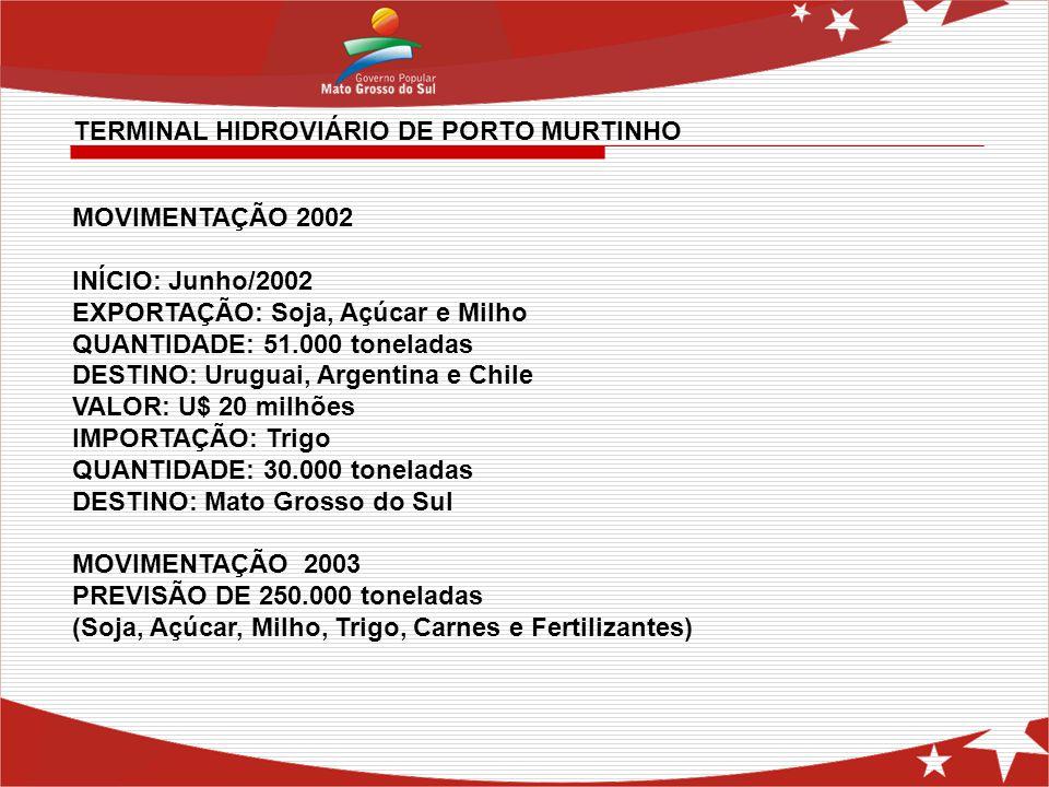 TERMINAL HIDROVIÁRIO DE PORTO MURTINHO