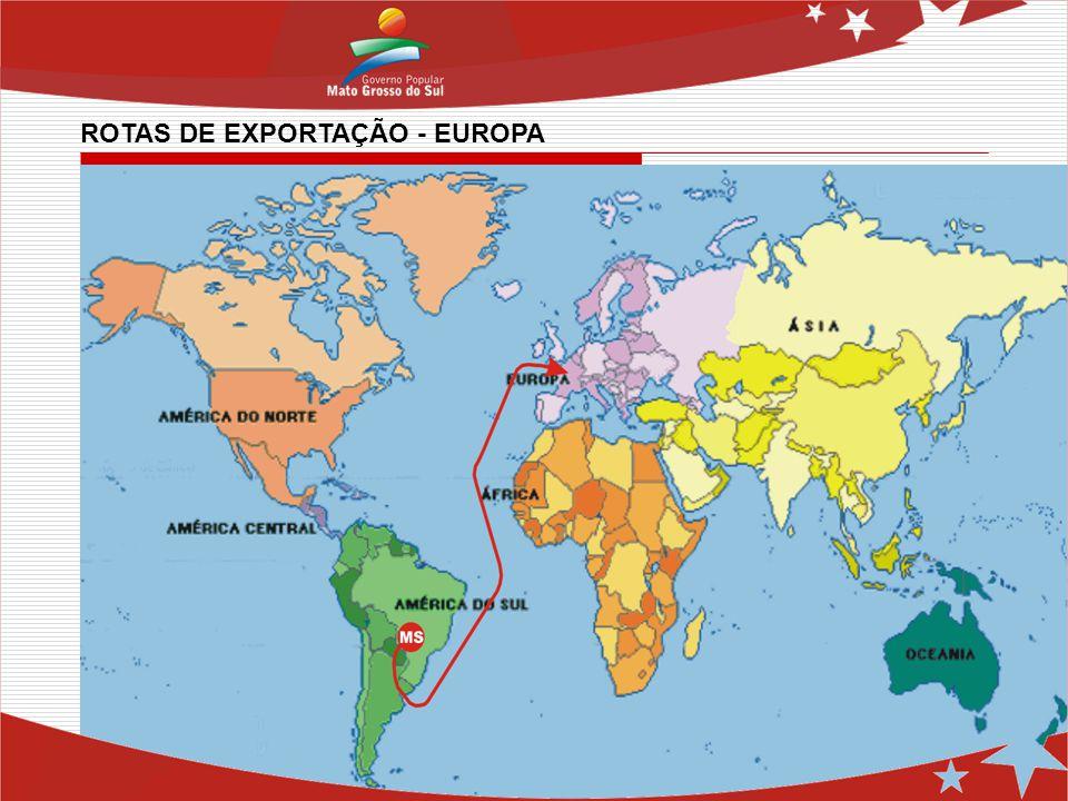 ROTAS DE EXPORTAÇÃO - EUROPA