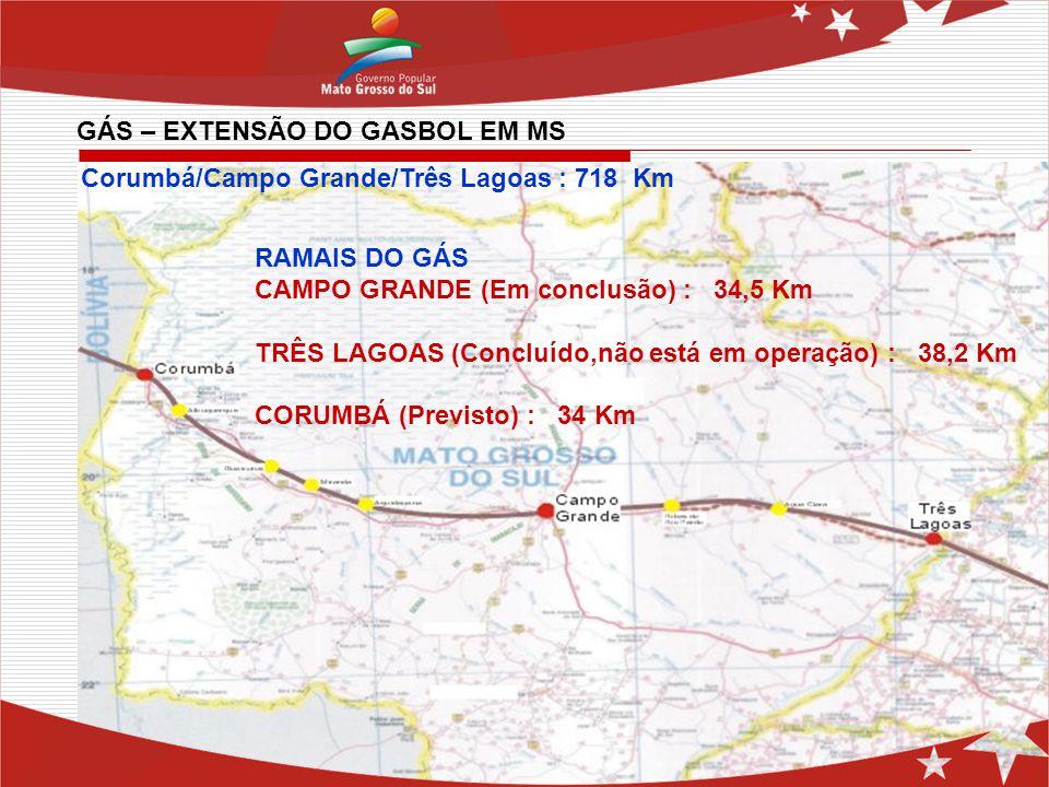 GÁS – EXTENSÃO DO GASBOL EM MS