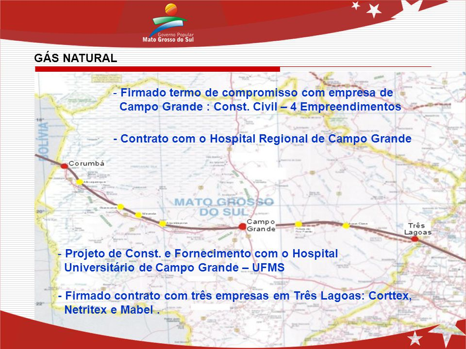 GÁS NATURAL Firmado termo de compromisso com empresa de. Campo Grande : Const. Civil – 4 Empreendimentos.