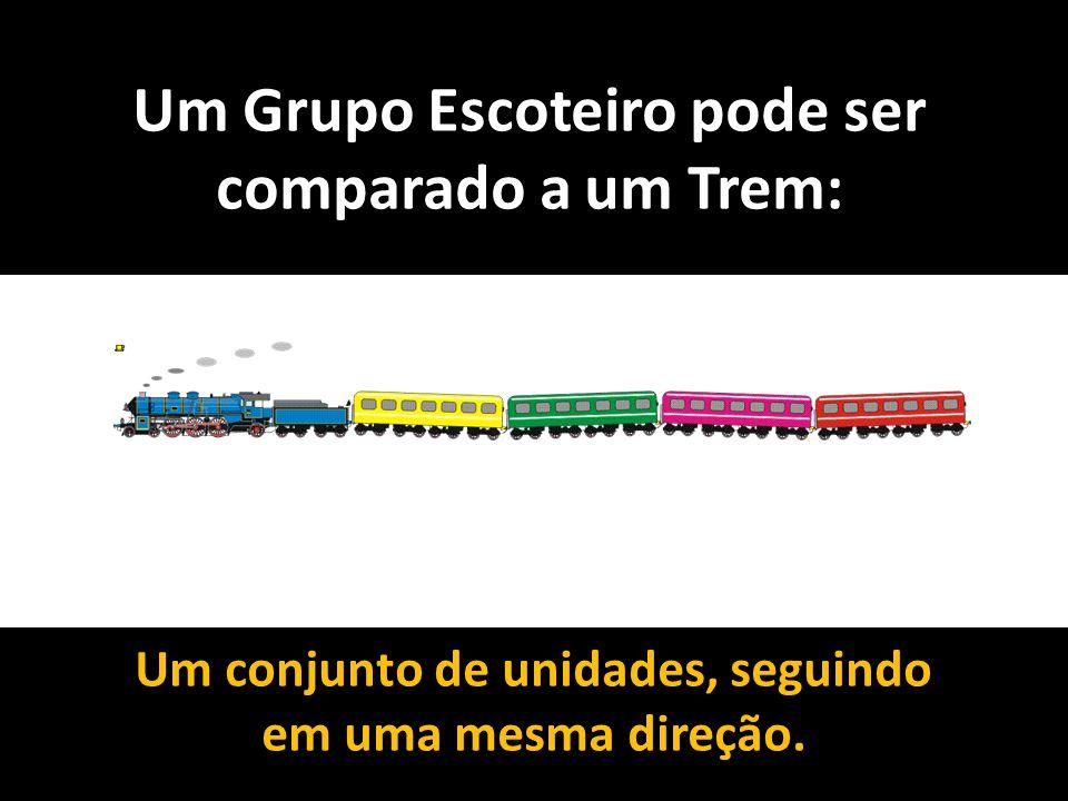 Um Grupo Escoteiro pode ser comparado a um Trem: