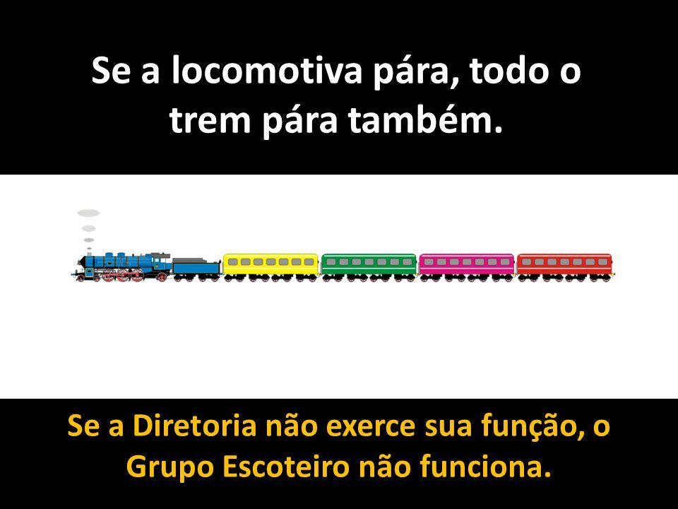 Se a locomotiva pára, todo o trem pára também.