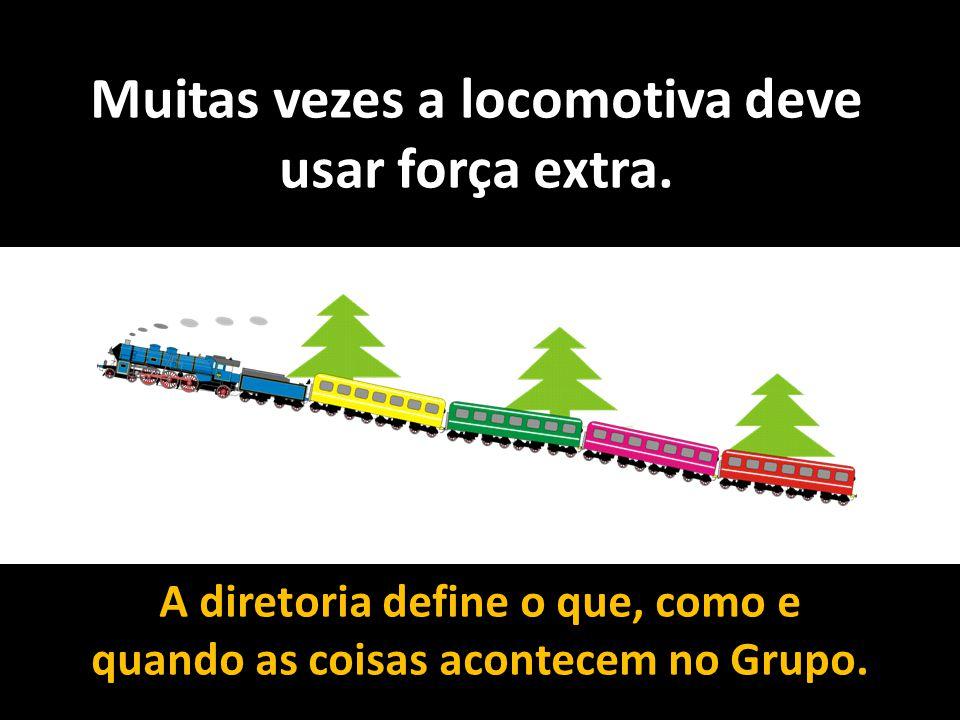 Muitas vezes a locomotiva deve usar força extra.