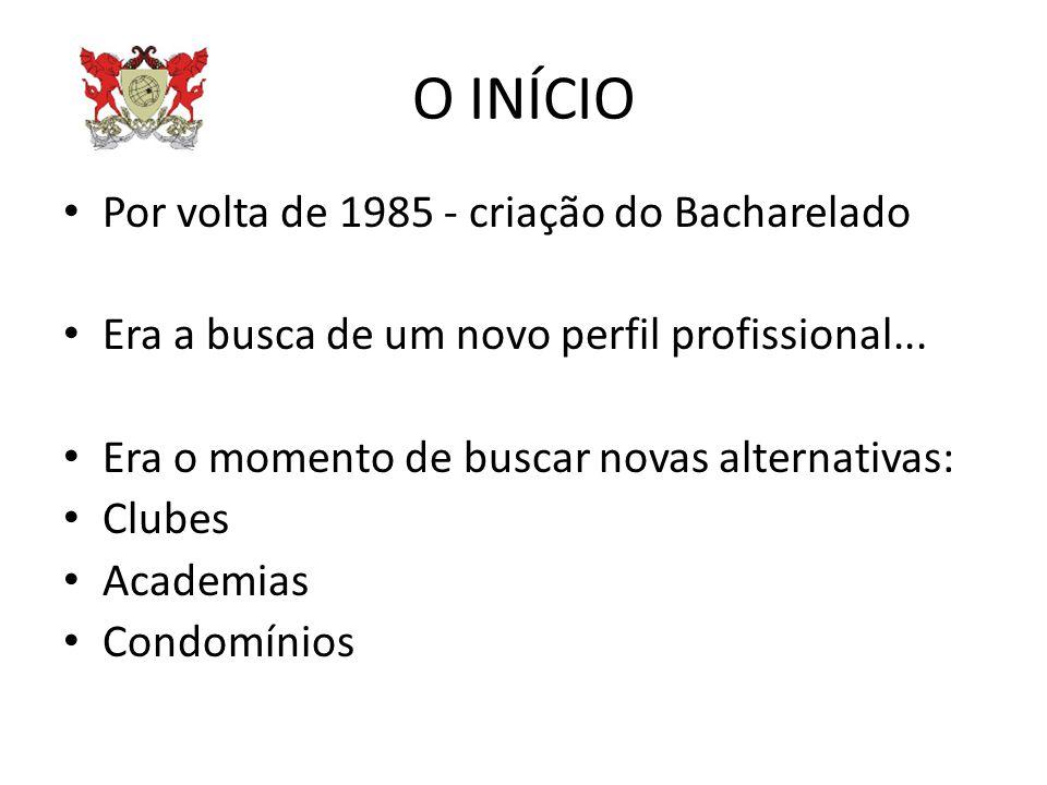 O INÍCIO Por volta de 1985 - criação do Bacharelado