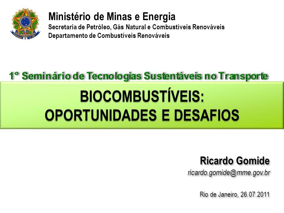 Biocombustíveis: Oportunidades e Desafios
