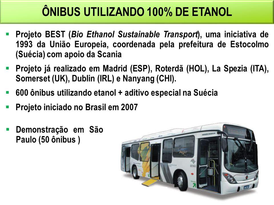 ÔNIBUS UTILIZANDO 100% DE ETANOL