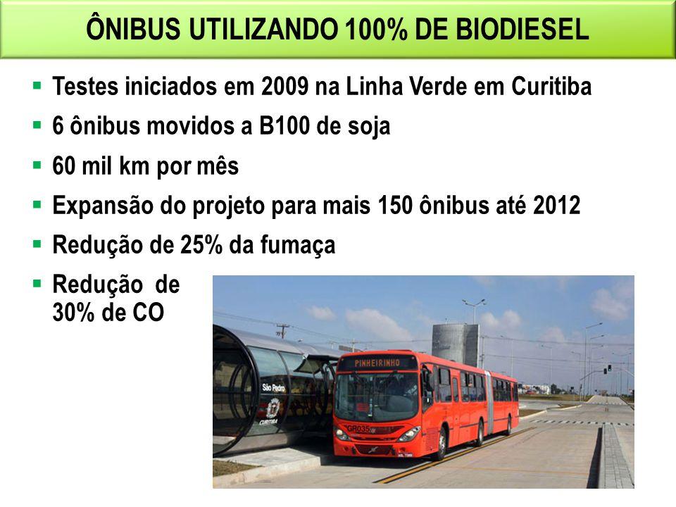 ÔNIBUS UTILIZANDO 100% DE BIODIESEL