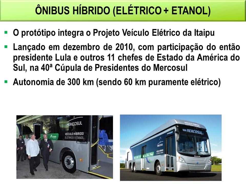 ÔNIBUS HÍBRIDO (ELÉTRICO + ETANOL)