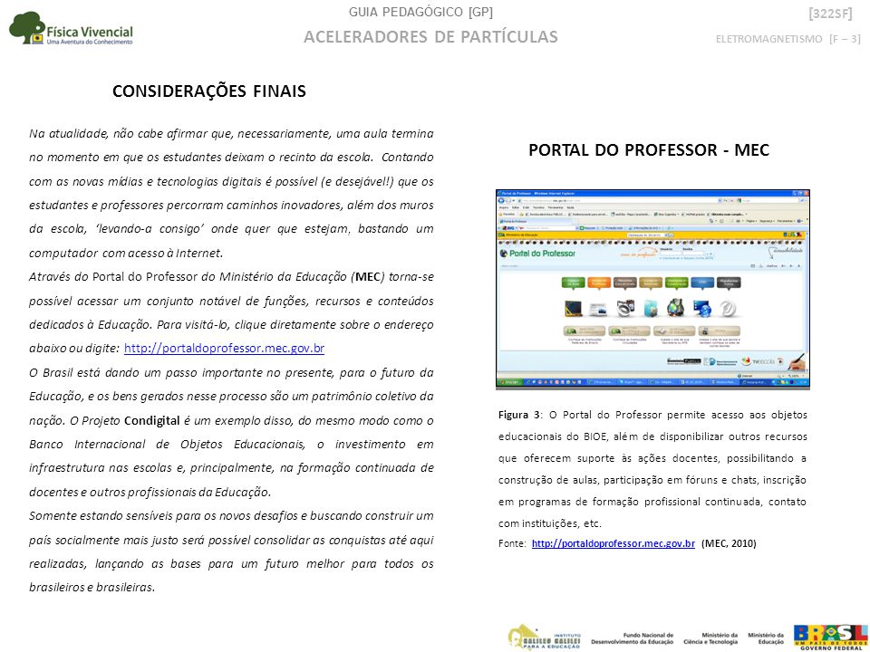 PORTAL DO PROFESSOR - MEC