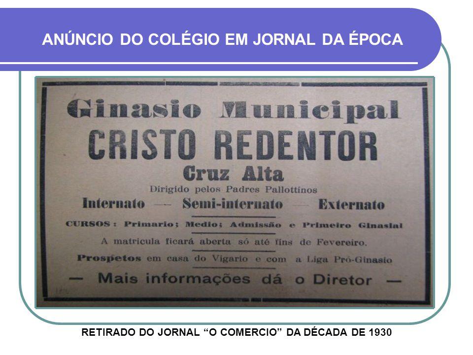 ANÚNCIO DO COLÉGIO EM JORNAL DA ÉPOCA