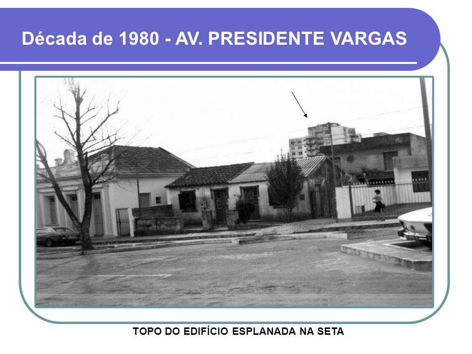 Década de 1980 - AV. PRESIDENTE VARGAS