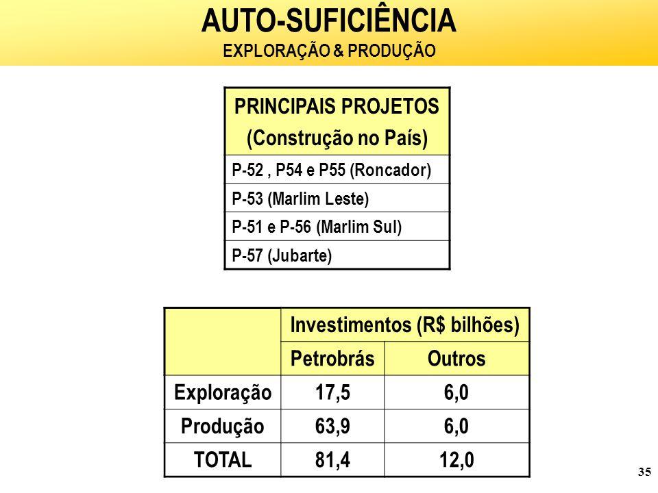 Investimentos (R$ bilhões)