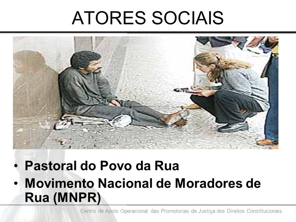 ATORES SOCIAIS Pastoral do Povo da Rua