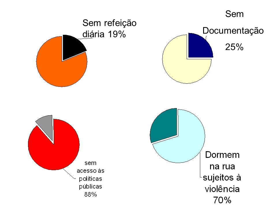 Sem Documentação Sem refeição diária 19% 25%