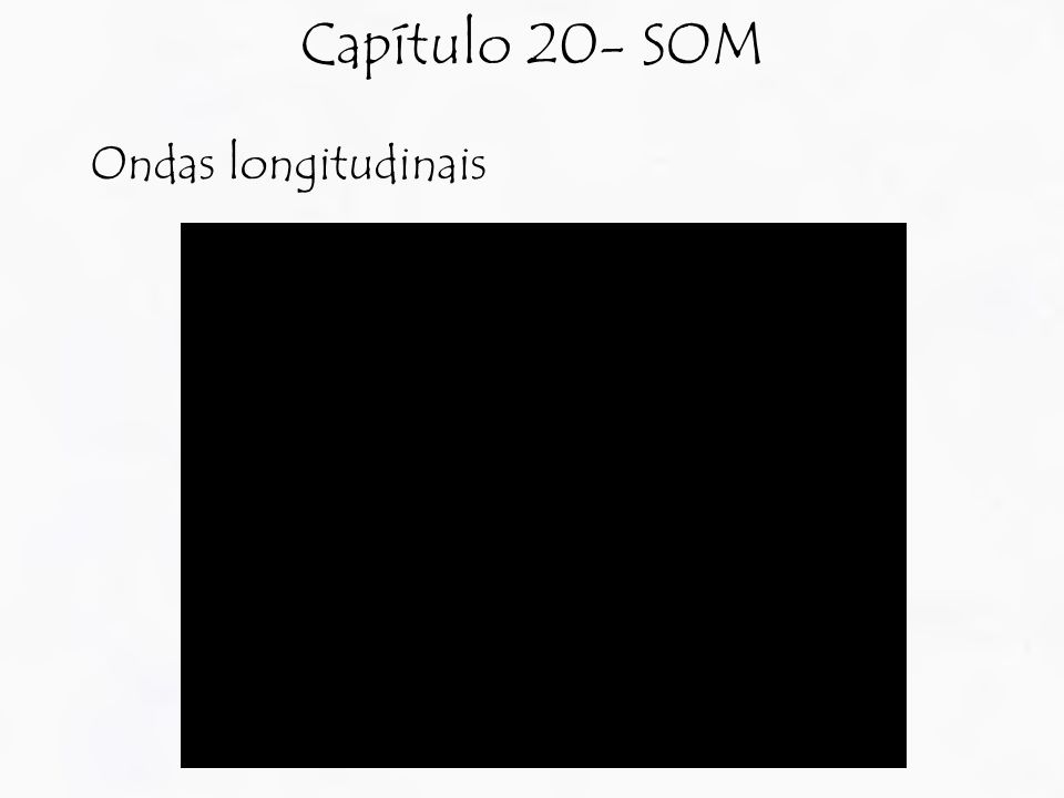 Capítulo 20- SOM Ondas longitudinais