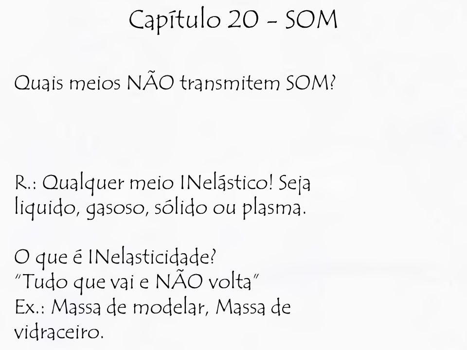 Capítulo 20 - SOM Quais meios NÃO transmitem SOM