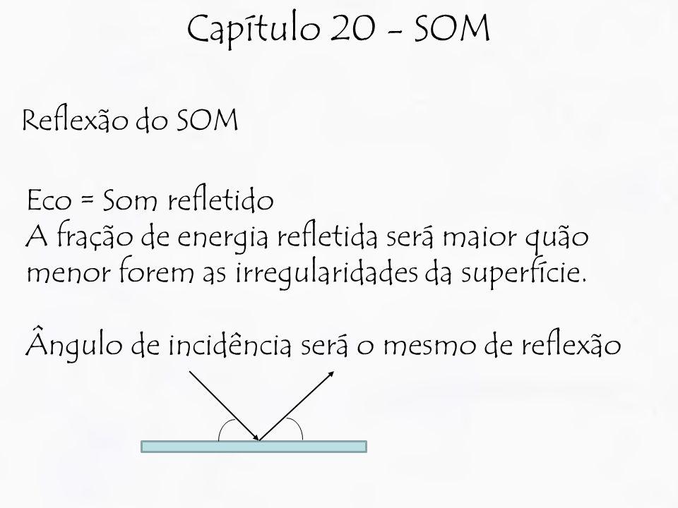 Capítulo 20 - SOM Reflexão do SOM Eco = Som refletido