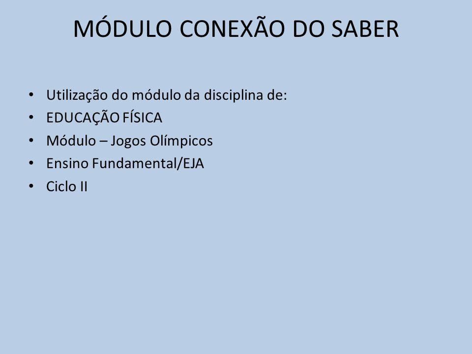 MÓDULO CONEXÃO DO SABER