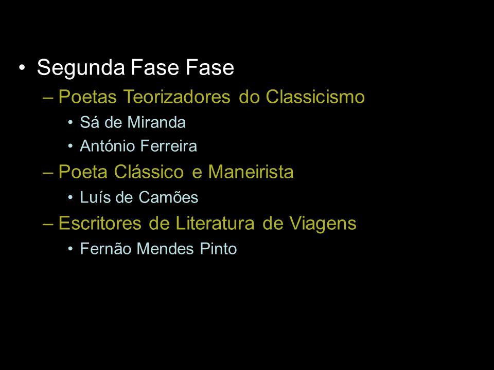 Segunda Fase Fase Poetas Teorizadores do Classicismo
