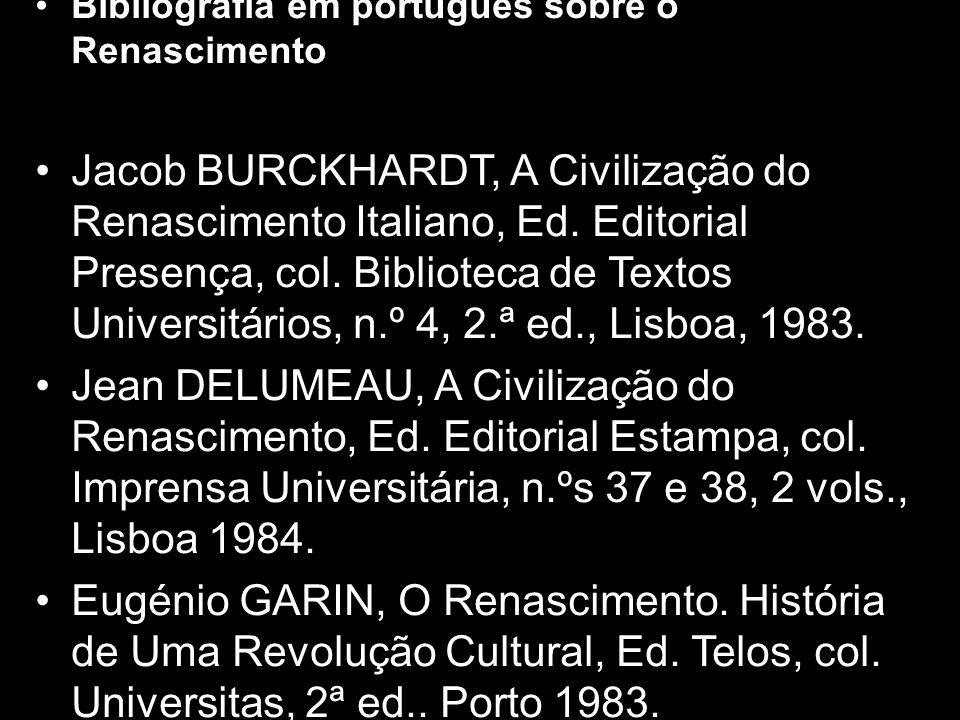 Bibliografia em português sobre o Renascimento