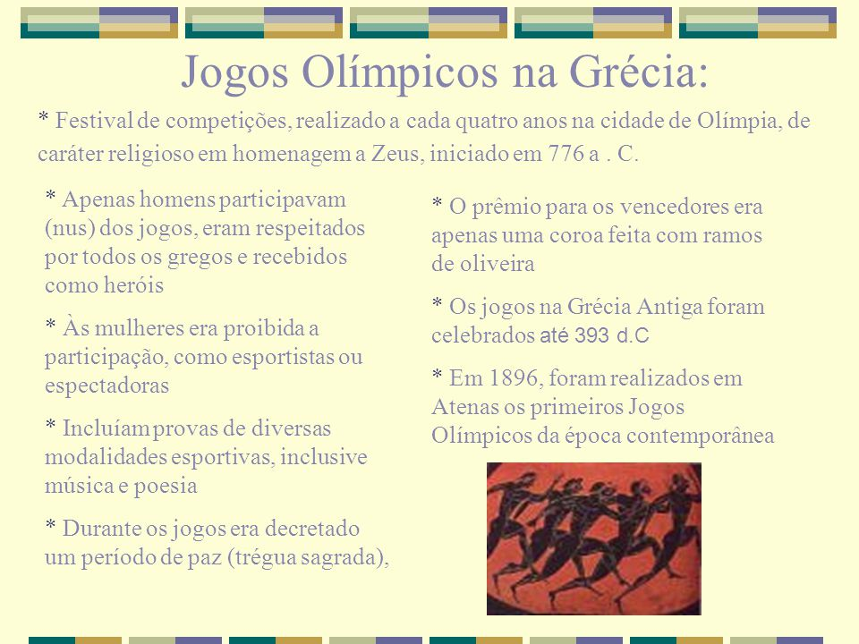 Jogos Olímpicos na Grécia: