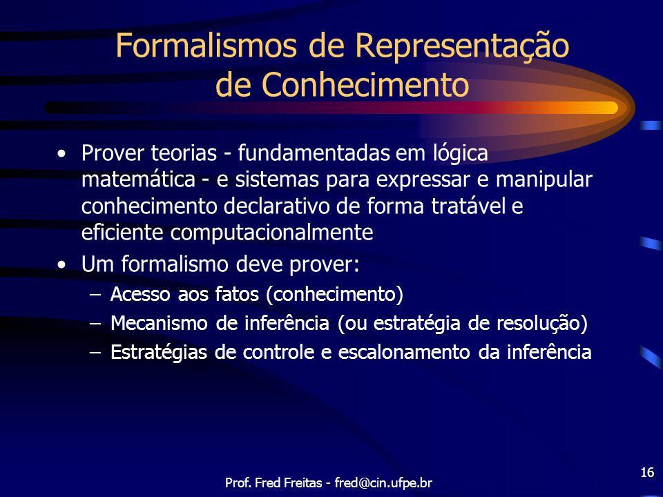 Formalismos de Representação de Conhecimento