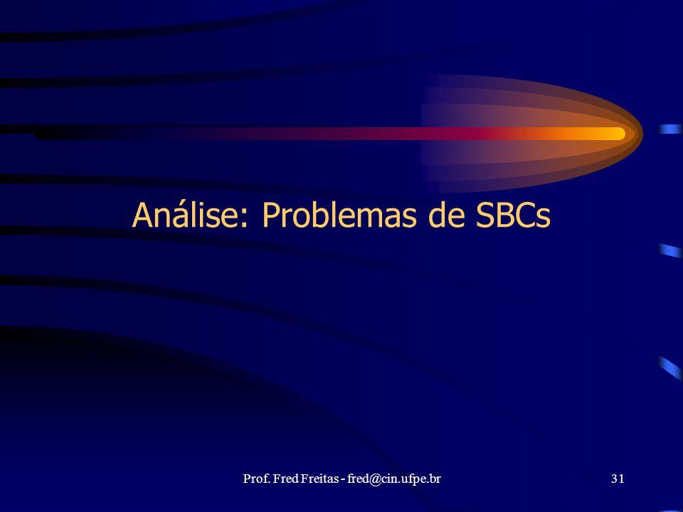 Análise: Problemas de SBCs