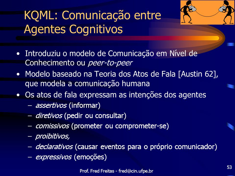 KQML: Comunicação entre Agentes Cognitivos