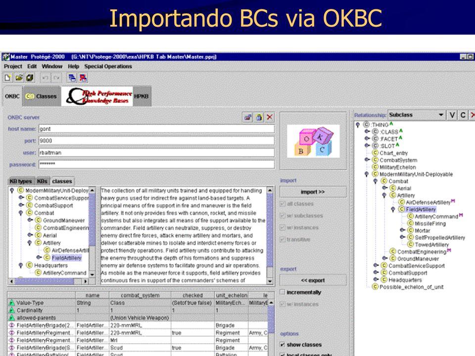 Importando BCs via OKBC