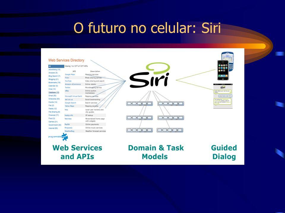 O futuro no celular: Siri