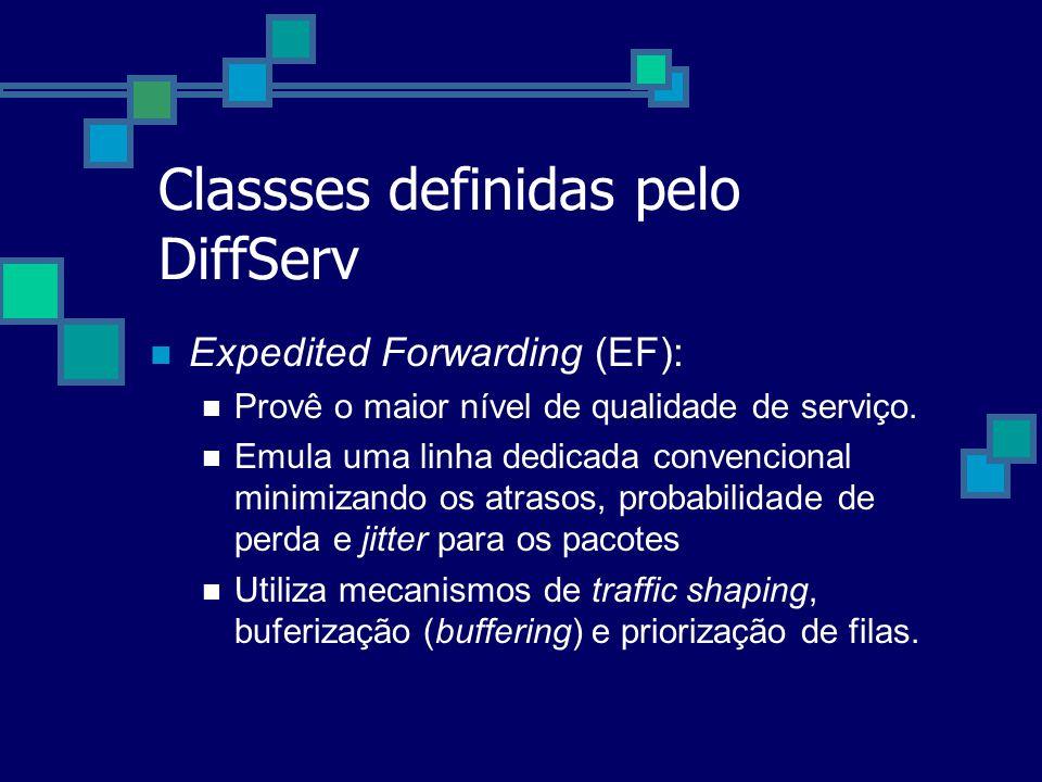 Classses definidas pelo DiffServ