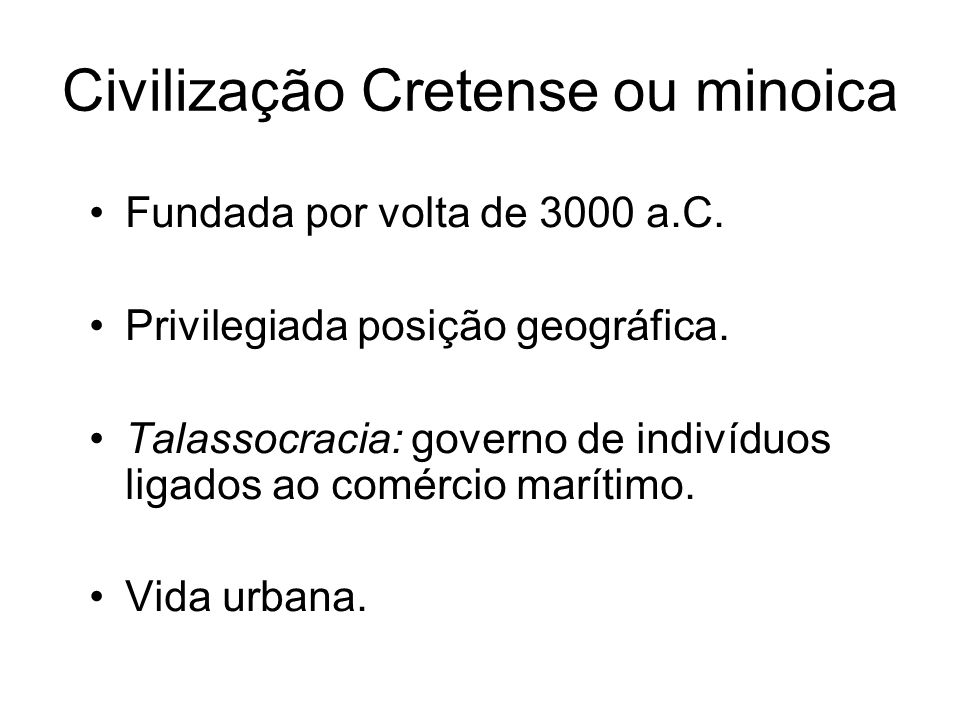 Civilização Cretense ou minoica