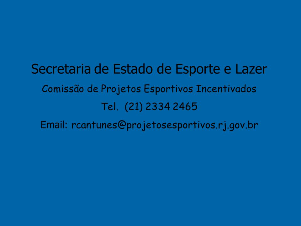 Secretaria de Estado de Esporte e Lazer