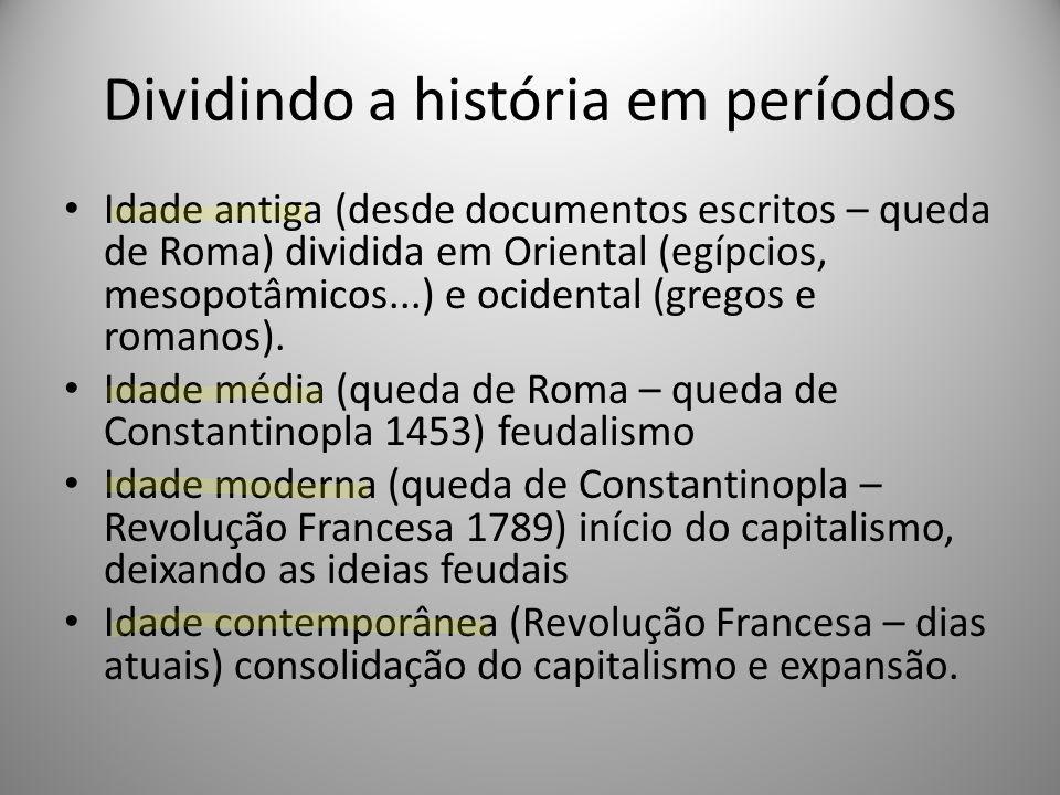 Dividindo a história em períodos