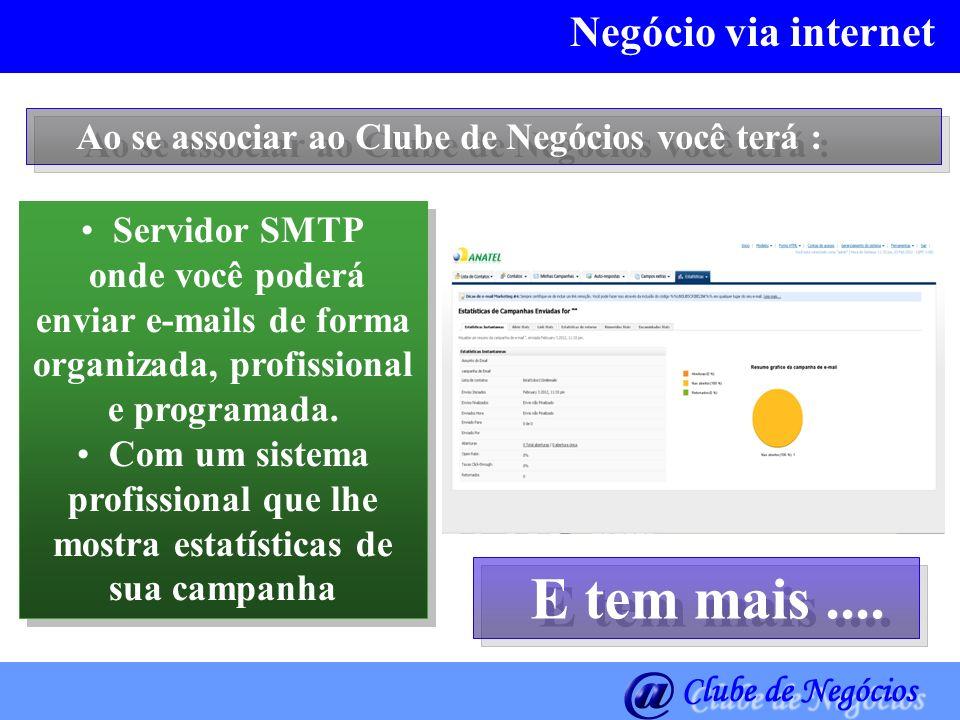 Negócio via internet Servidor SMTP