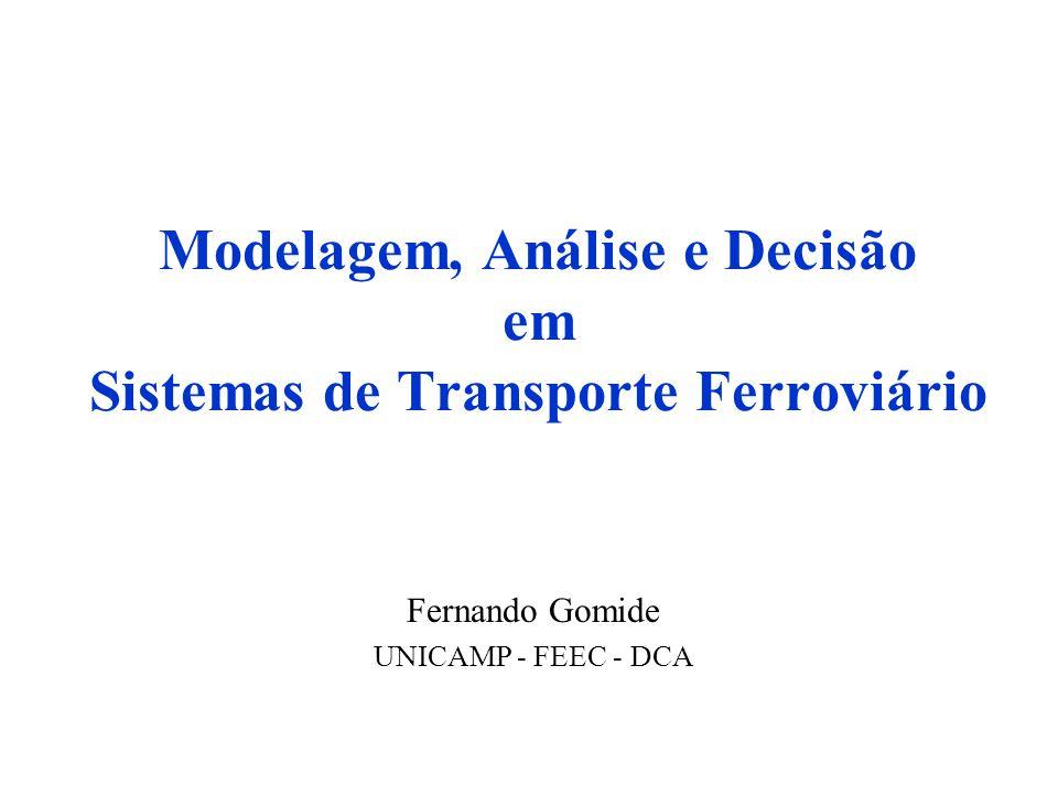 Modelagem, Análise e Decisão em Sistemas de Transporte Ferroviário