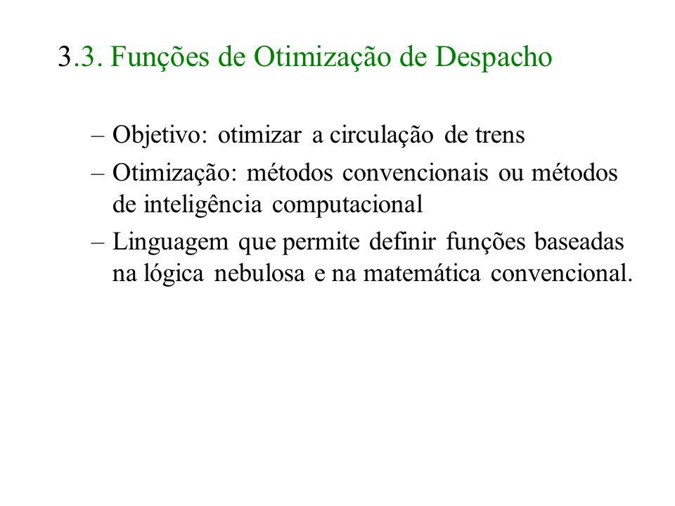 3.3. Funções de Otimização de Despacho