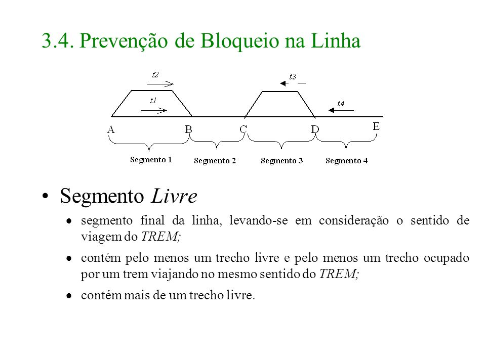 3.4. Prevenção de Bloqueio na Linha